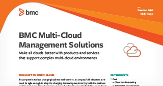 BMC Multi-Cloud Management Solutions